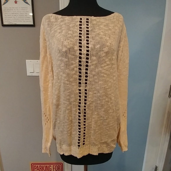 42135927cc Earthbound Ainsley Cream Open Weave Sweater. NWT. earthbound trading co